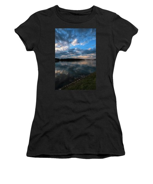 Sunset On The River Women's T-Shirt (Athletic Fit)