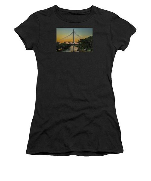 Sunset On The Trinity Women's T-Shirt (Athletic Fit)