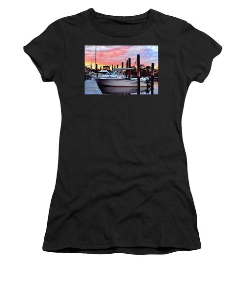 Sunset On The Water Women's T-Shirt (Athletic Fit)