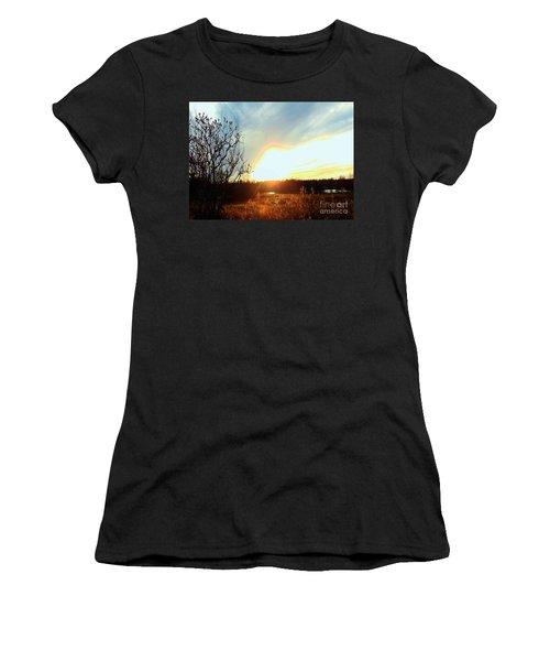 Sunset Over Fields Women's T-Shirt