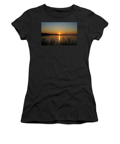 Sunset Over Lake Norman Women's T-Shirt (Junior Cut) by B Wayne Mullins