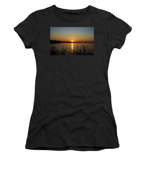 Sunset Over Lake Norman Women's T-Shirt (Junior Cut)
