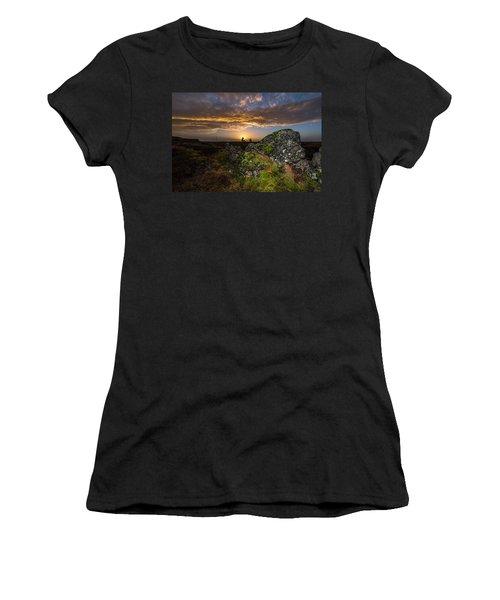 Sunset Over Marsh Women's T-Shirt (Junior Cut) by Joe Belanger