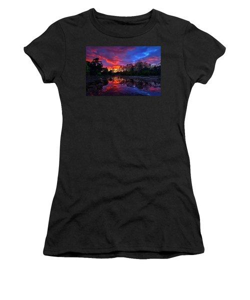 Sunset Over Riverbend Park In Jupiter Florida Women's T-Shirt