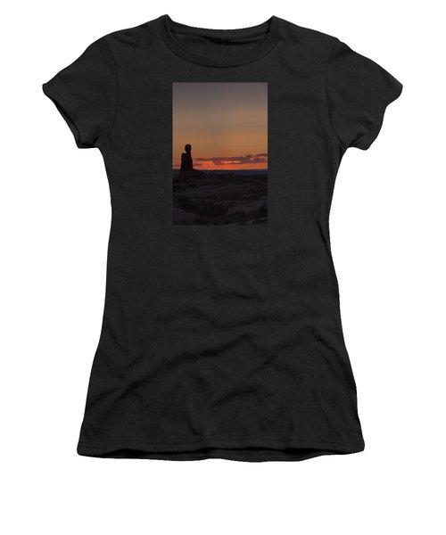 Sunset Over Rock Formation Women's T-Shirt