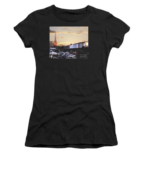 Women's T-Shirt (Junior Cut) featuring the photograph Sunset Over St Mary Redcliffe Bristol by Terri Waters
