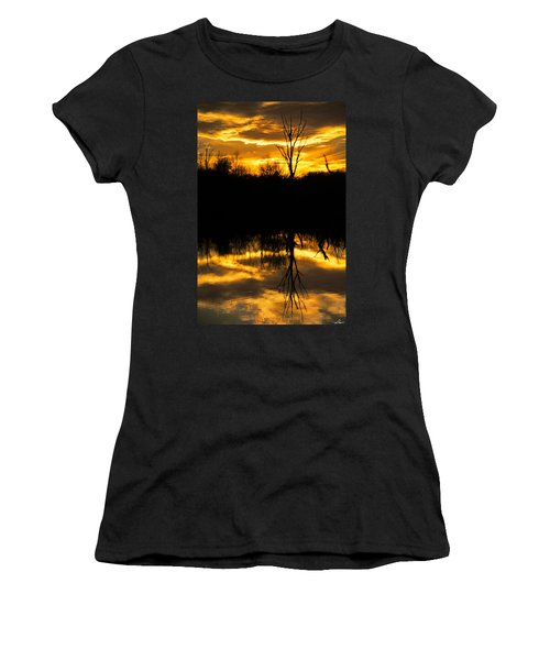 Sunset Over The Sabine River Women's T-Shirt