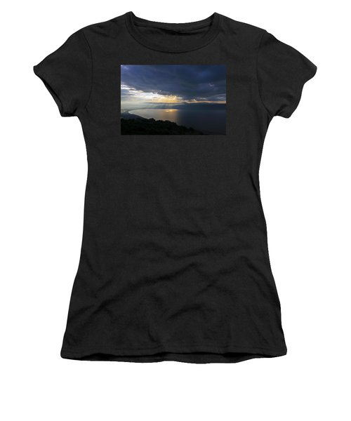 Sunset Over The Sea Of Galilee Women's T-Shirt