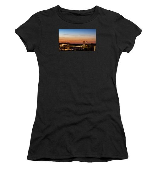 Sunset Over The Tacoma Narrows Bridges Women's T-Shirt