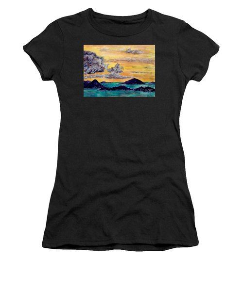 Sunset Over The Virgin Islands Women's T-Shirt (Athletic Fit)