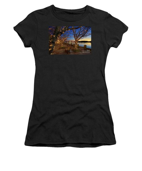 Sunset Over The Wilmington Waterfront In North Carolina, Usa Women's T-Shirt (Athletic Fit)
