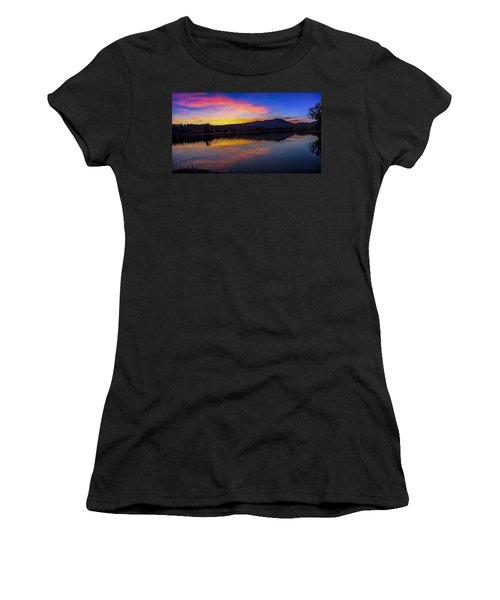 Sunset Panorama Of Mt. Tam And Richardson Bay Women's T-Shirt