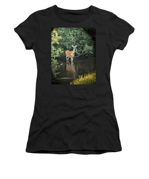 Sunset River Doe Women's T-Shirt (Athletic Fit)