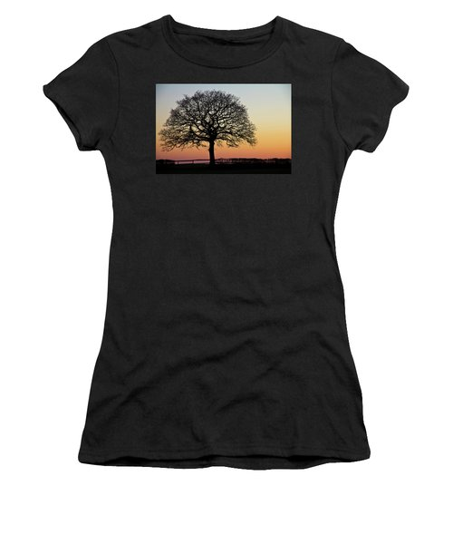 Women's T-Shirt featuring the photograph Sunset Silhouette by Clare Bambers