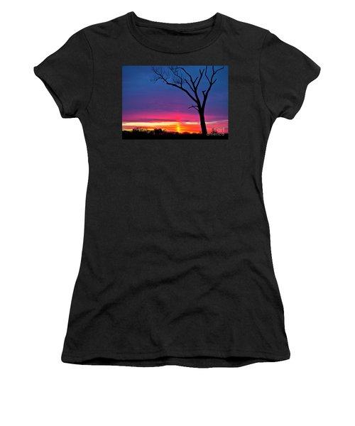 Sunset Sundog  Women's T-Shirt (Junior Cut) by Ricky L Jones