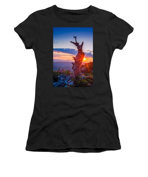 Sunset Tree Women's T-Shirt (Athletic Fit)