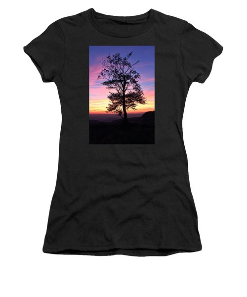 Sunset Tree Women's T-Shirt (Junior Cut) by RKAB Works