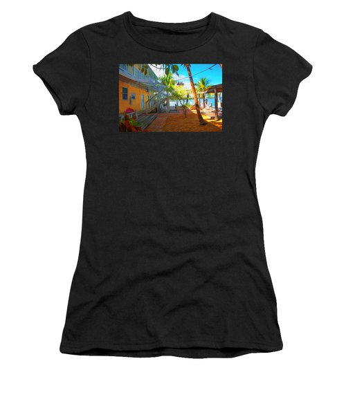 Sunset Villas Patio Women's T-Shirt (Athletic Fit)
