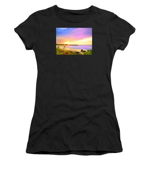 Sunset Walk Women's T-Shirt (Athletic Fit)