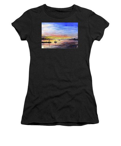 Sunset Watercolor Downtown Kirkland Women's T-Shirt