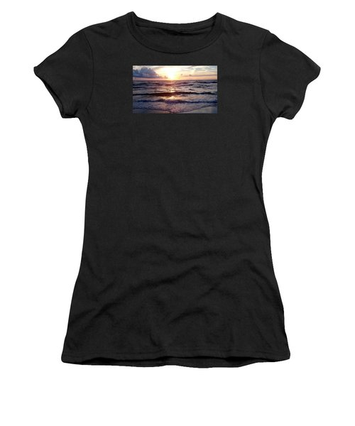 Sunset Waves 1 Women's T-Shirt (Athletic Fit)