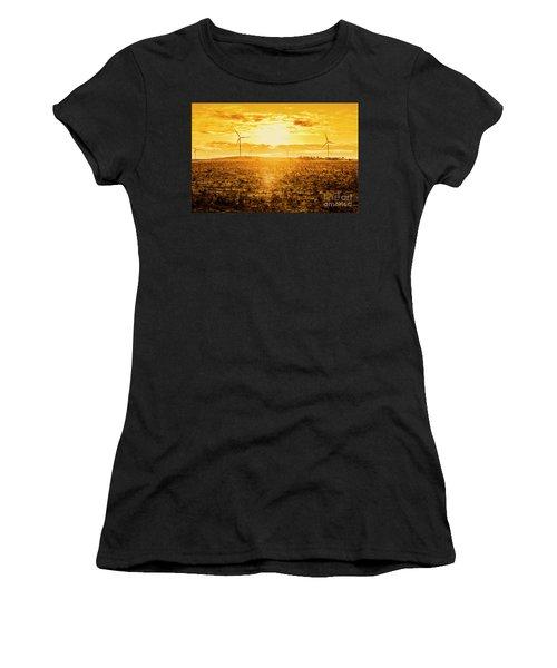 Sunsets And Golden Turbines Women's T-Shirt