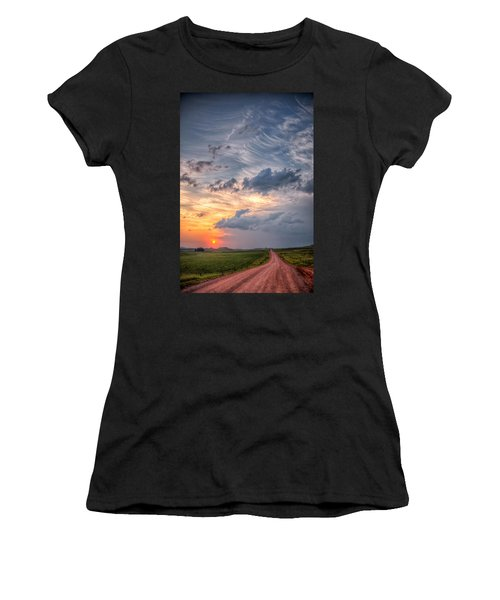 Sunshine And Storm Clouds Women's T-Shirt (Athletic Fit)