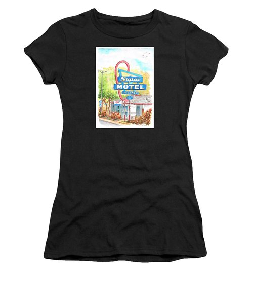 Supai Motel In Route 66, Seliman, Arizona Women's T-Shirt (Athletic Fit)