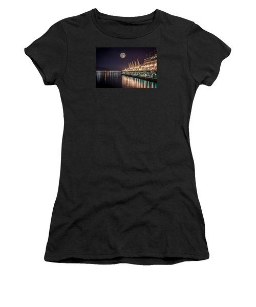 Super Moon Over Canada Place Women's T-Shirt