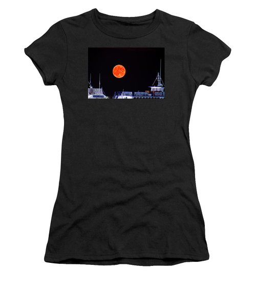 Super Moon Over Crazy Sister Marina Women's T-Shirt (Athletic Fit)