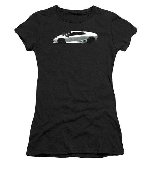 Supercar In White Art Women's T-Shirt