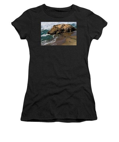Surf Fishing At Ocean Beach Women's T-Shirt