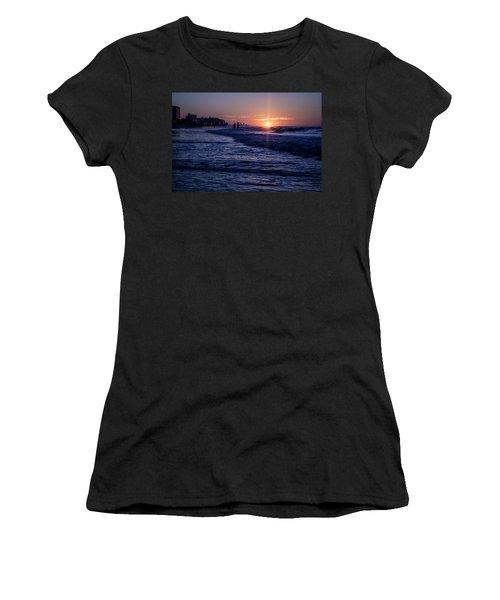 Surf Fishing At Sunrise Women's T-Shirt