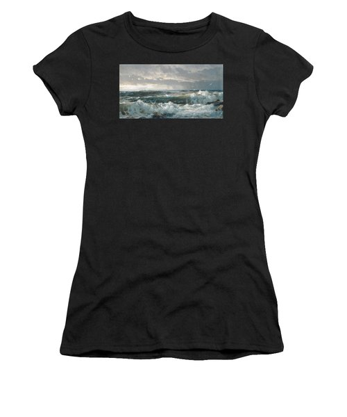 Surf On The Rocks Women's T-Shirt
