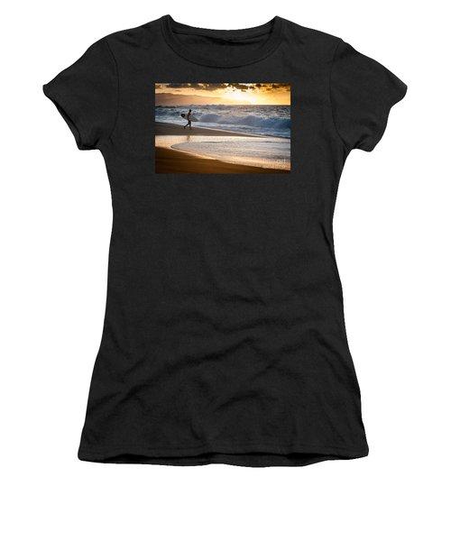 Surfer On Beach Women's T-Shirt