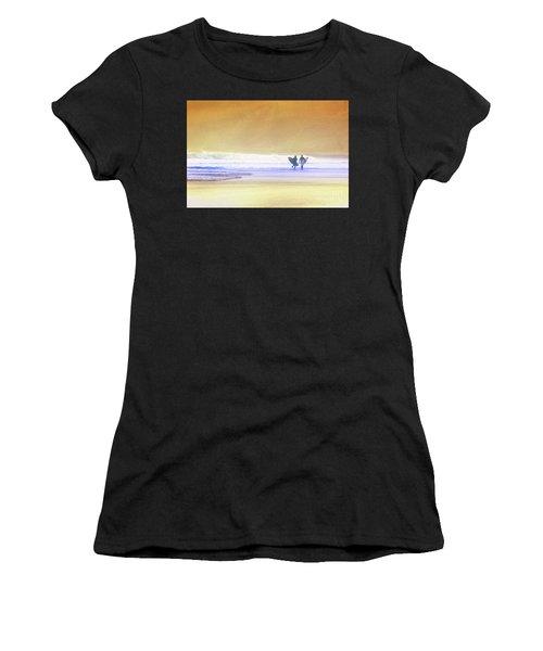Surfers Women's T-Shirt (Athletic Fit)