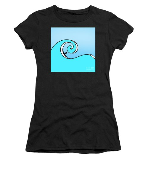 Surfing The Wave Women's T-Shirt