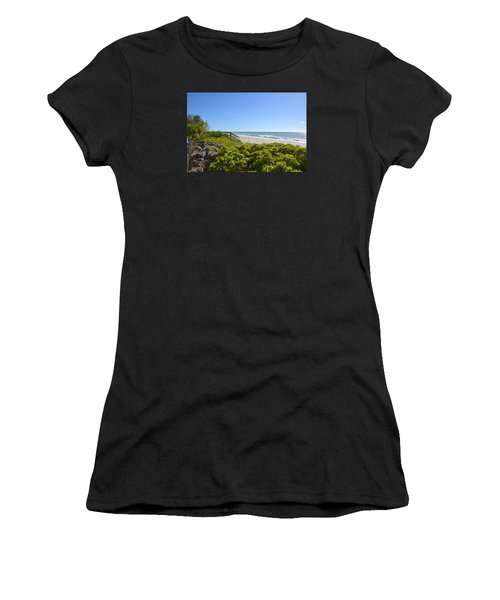 Surfs Up On Casey Key Beach Women's T-Shirt (Athletic Fit)