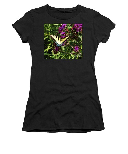 Swallowtail On Butterfly Weed Women's T-Shirt (Athletic Fit)