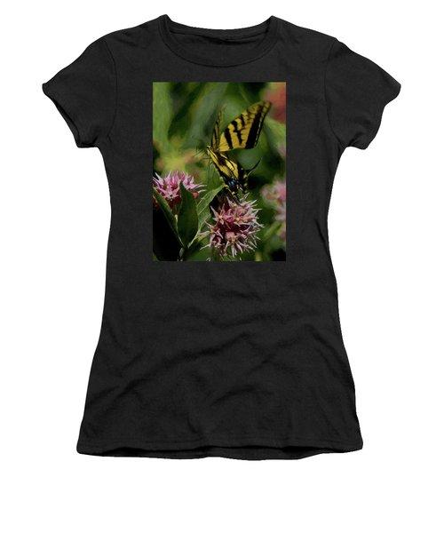 Swallowtail Liftoff Dp Women's T-Shirt (Junior Cut) by Ernie Echols
