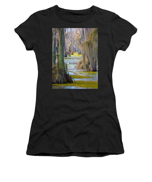Swamp Curtains In February Women's T-Shirt (Athletic Fit)