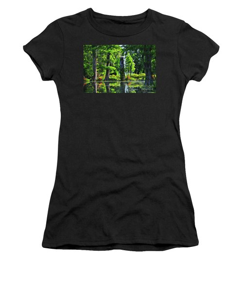 Swamp In Bloom Signed Women's T-Shirt (Athletic Fit)