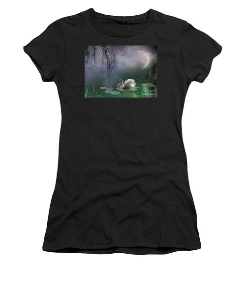 Swan By Moonlight Women's T-Shirt (Athletic Fit)