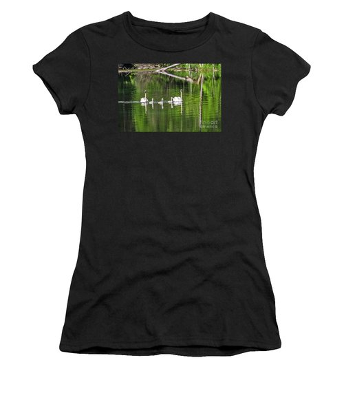 Swan Family With Triplets Women's T-Shirt