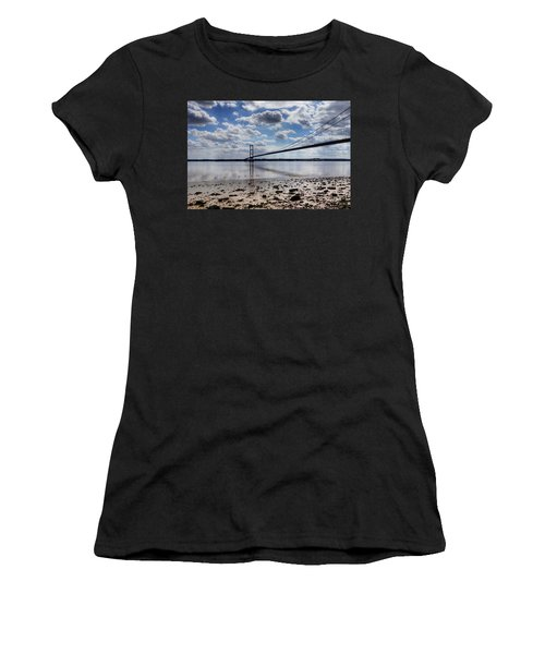 Swans At Humber Bridge Women's T-Shirt (Athletic Fit)
