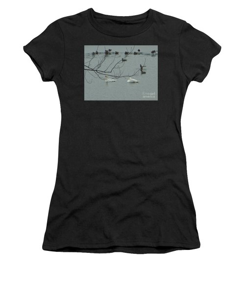Swans With Geese Women's T-Shirt