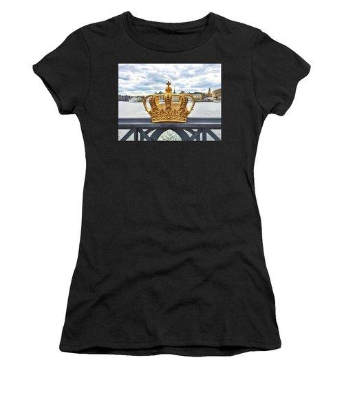 Swedish Royal Crown On A Bridge In Stockholm Women's T-Shirt