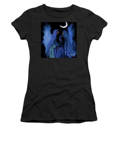 Sweet Angelfamily Women's T-Shirt (Junior Cut) by Sherri's Of Palm Springs