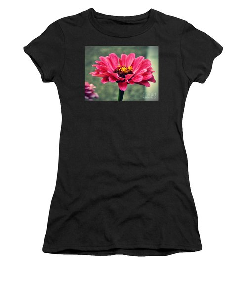 Sweet Pink Zinnia Women's T-Shirt (Athletic Fit)