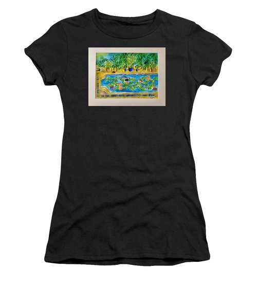 Swimming With Waterlilies And Fish Women's T-Shirt